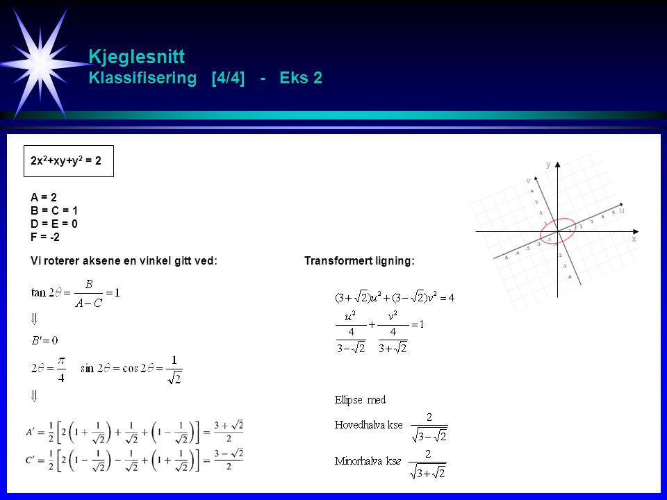 Kjeglesnitt Klassifisering [4/4] - Eks 2